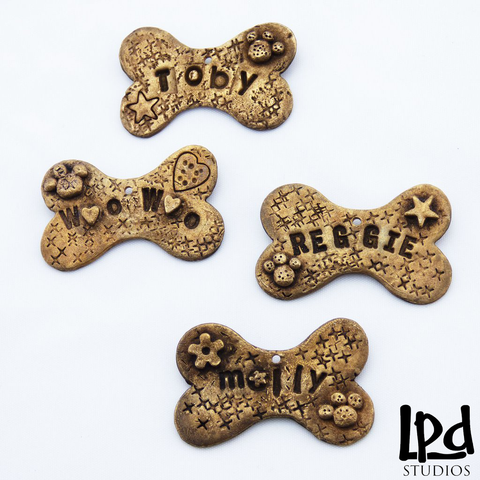 Brass Dog Tags with Custom Pet Love Name