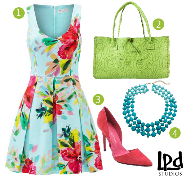 LPDstudios Blog: Style Board - Apple Green Reptile Embossed Leather Tote with Alligator