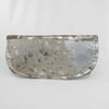 Silver Printed Leather Brindle Evening Clutch