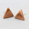 Super Shiny Triangle Copper Studs