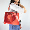 Cherry Red Tie Dye Patent Leather Purse with Heart
