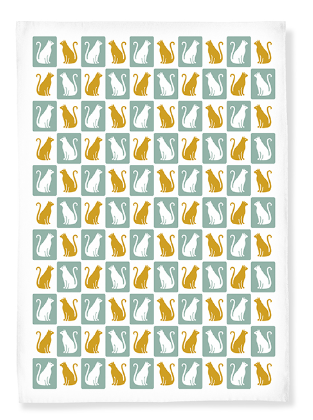 Kitty Tea Towels