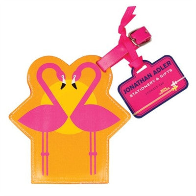 Flamingo Luggage Tags by Jonathan Adler