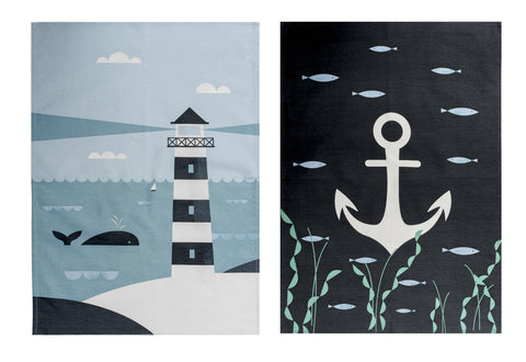 Ahoy Tea Towel Set