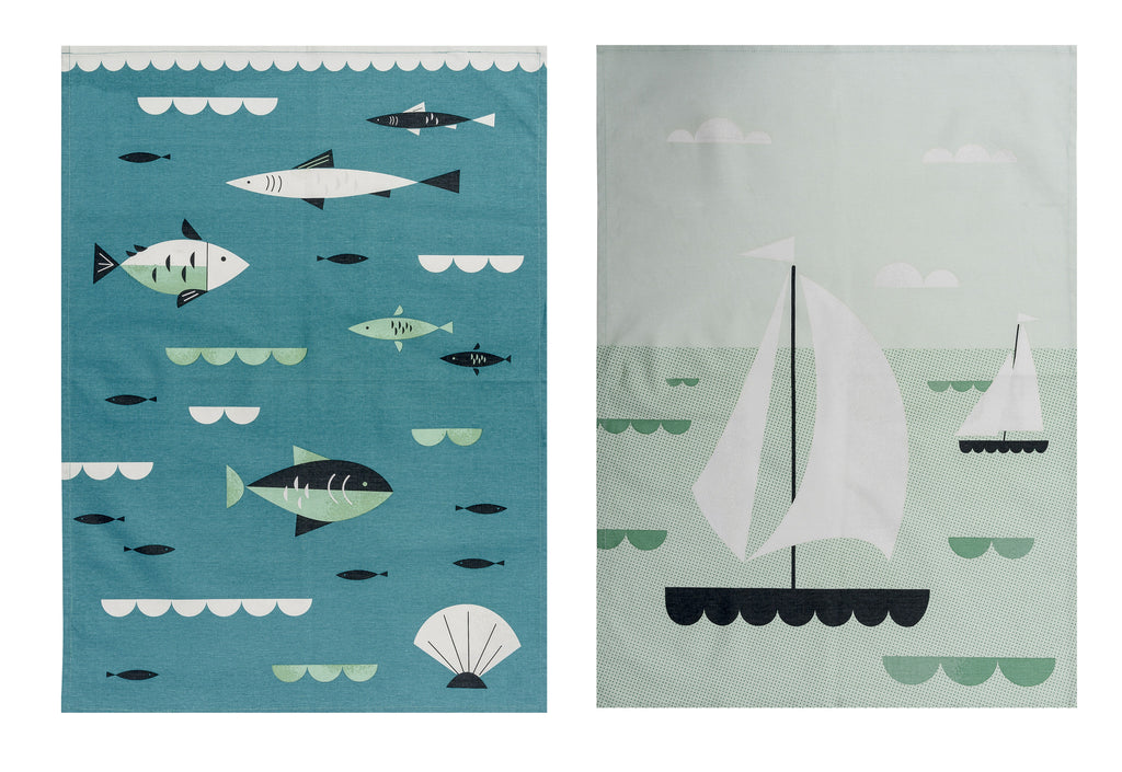 Tide Tea Towel Set