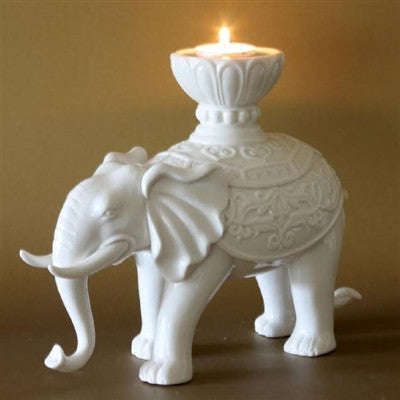 Asian Elephant Candle Stand