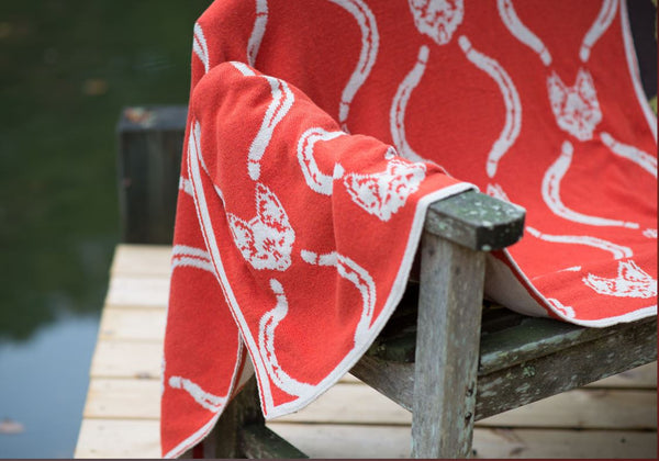 Mr Fox Reversible Throw by in2green