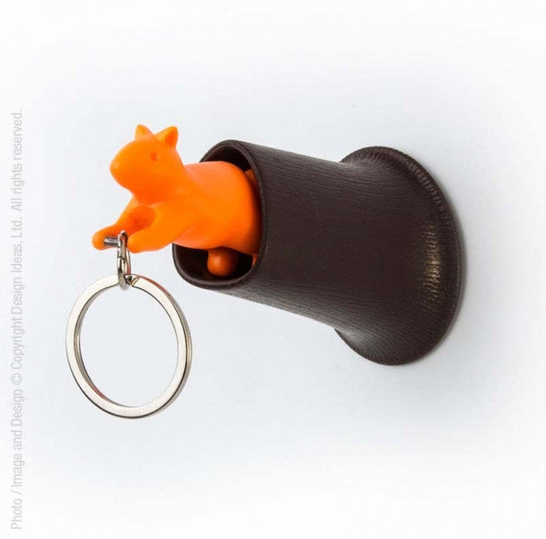 Squirrel Key Ring Holder Set