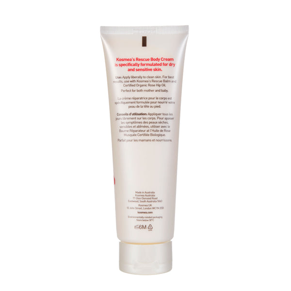 Kosmea Australia Rescue Body Cream 125ml Rear Label