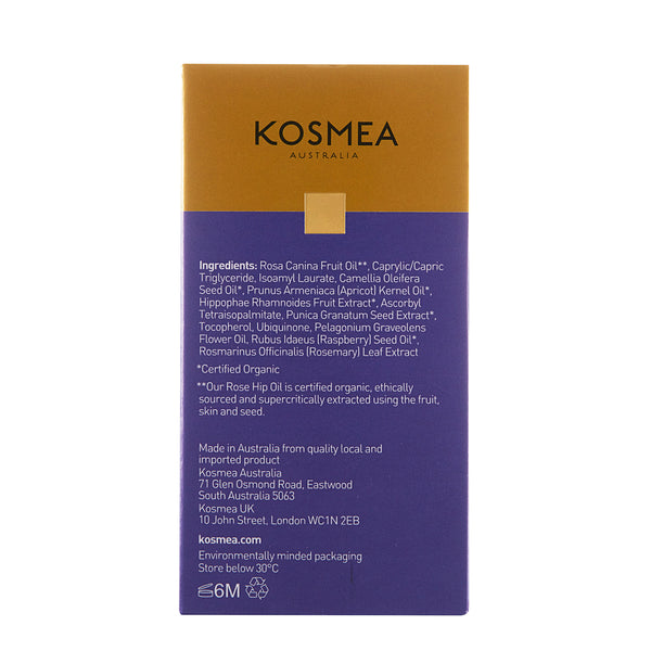 Kosmea Australia Revive Illuminating Essence 20ml Back of Package