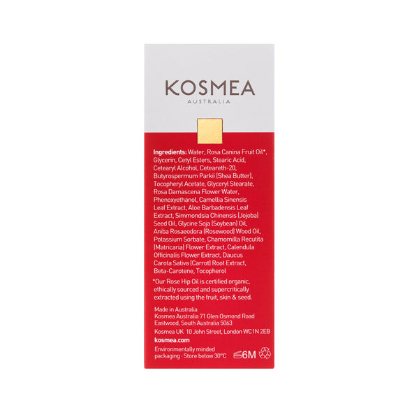 Kosmea Australia Rose Glow Hand Cream 75ml Packaging Back Label