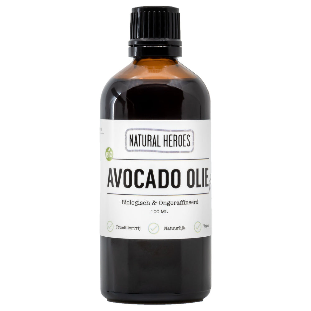 Avocado Olie (Biologisch & Ongeraffineerd) Natural Heroes 100ml
