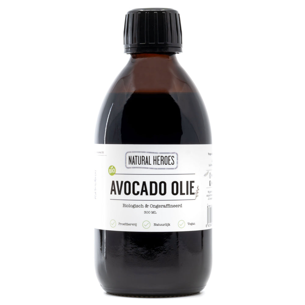 Avocado Olie (Biologisch & Ongeraffineerd) Natural Heroes 300ml