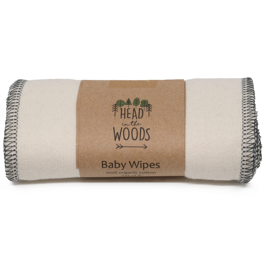 Baby Wipes - Biologisch Katoen Head In The Woods Set van 8 stuks