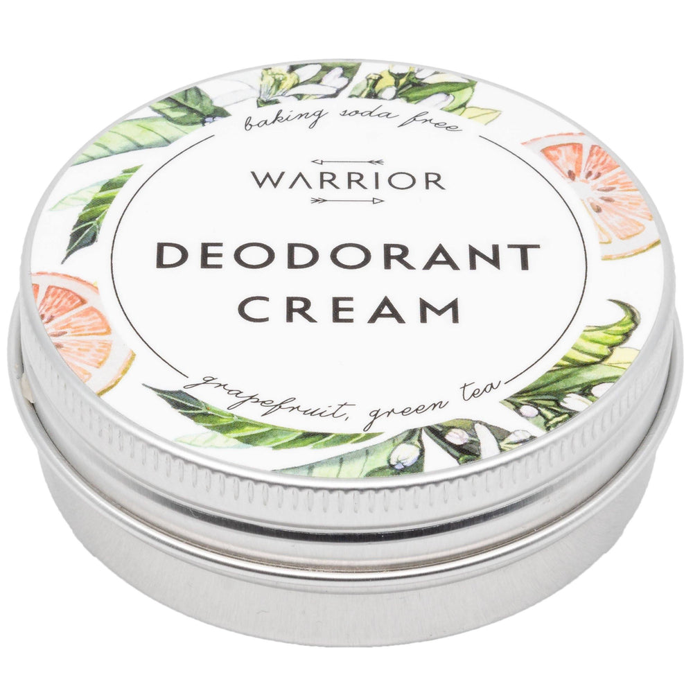 Deodorant Crème - Baking Soda-Vrij - Grapefruit & Groene Thee - Warrior Botanicals warrior botanicals