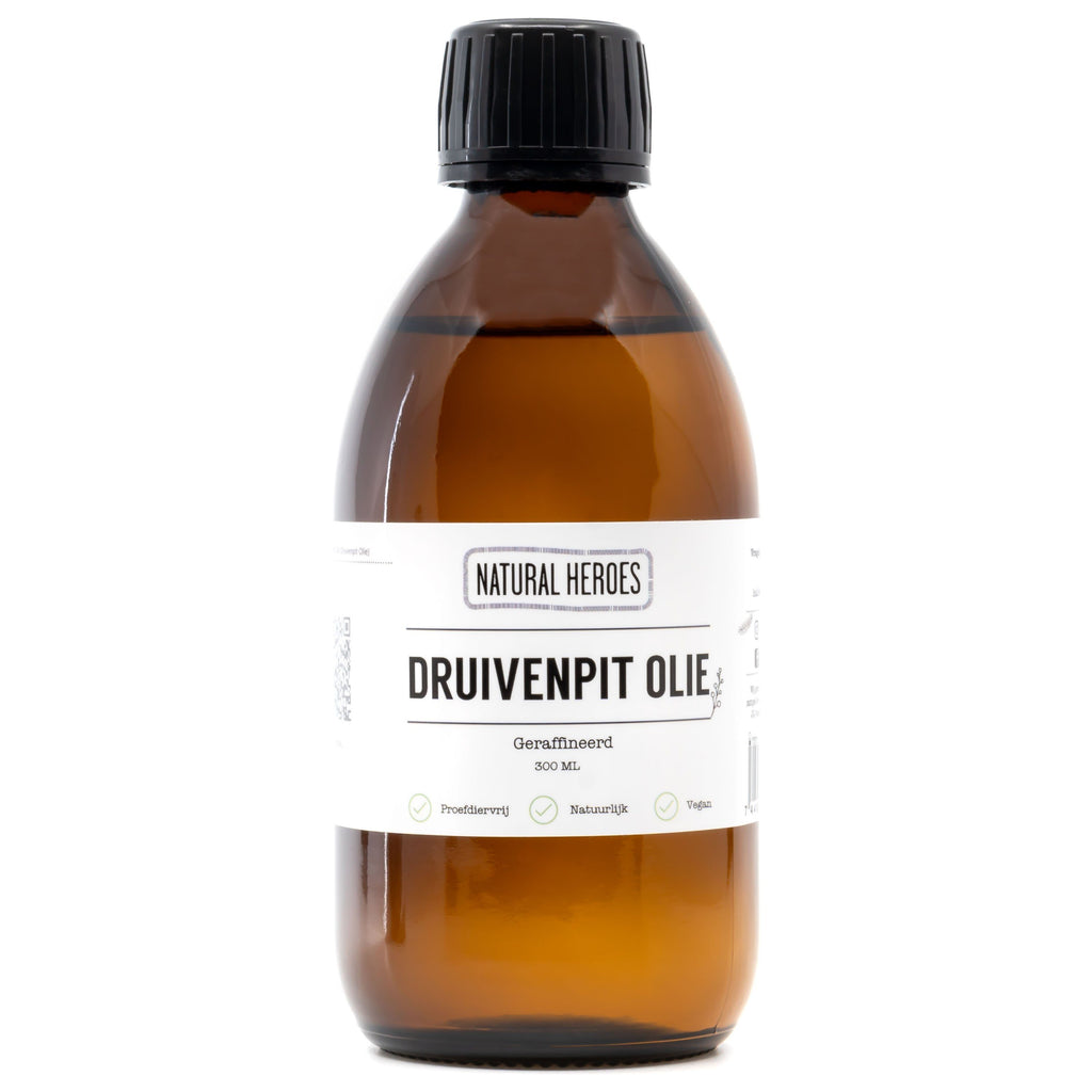 Druivenpit Olie (Geraffineerd) Natural Heroes 300 ml
