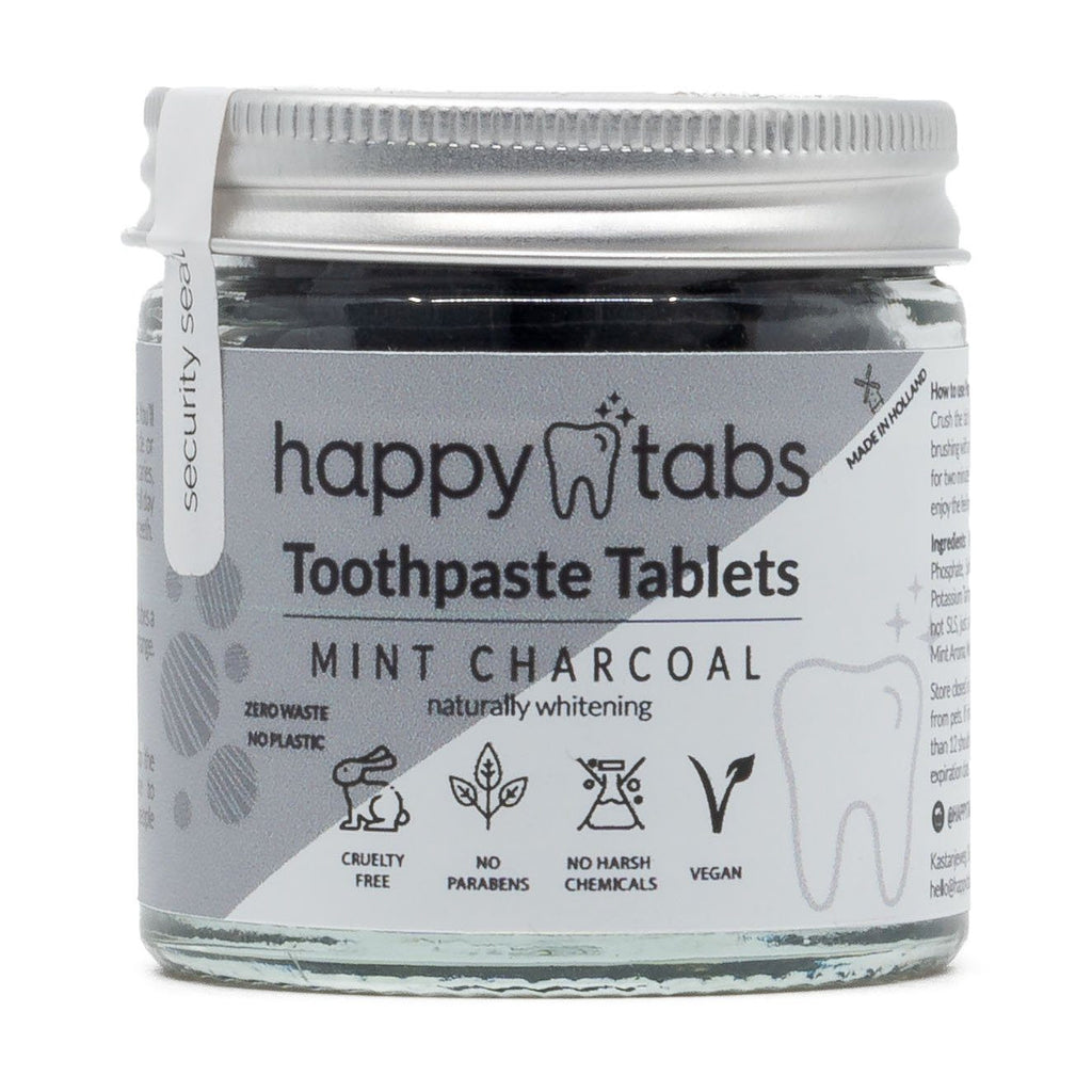 Tandpasta Tabletten (Actieve Kool met Pepermunt) - Happy Tabs Happy Tabs