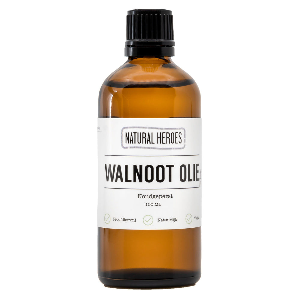Walnoot Olie (Koudgeperst) Natural Heroes 100 ml