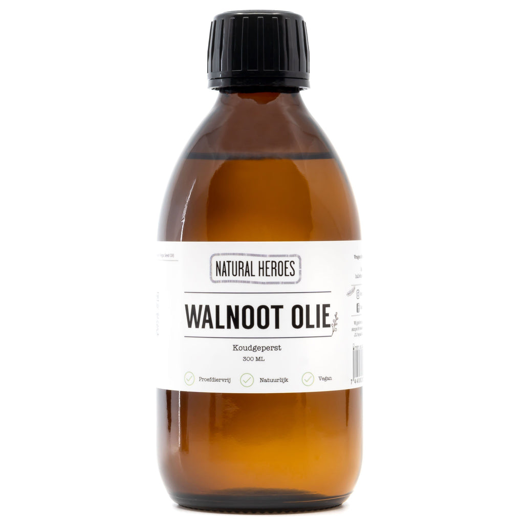 Walnoot Olie (Koudgeperst) Natural Heroes 300 ml