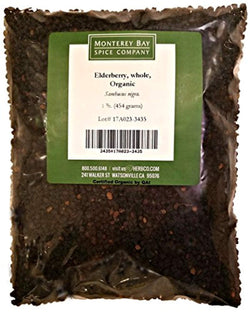 Elderberries CERTIFIED ORGANIC 1 LB Bag