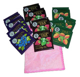 Mlesna Flavored Black Tea Sampler 4 Each Blueberry, Strawberry, Peach-Apricot