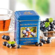 Wild Blueberry Black Tea by Metropolitan 24 Bags in Decorative Tin