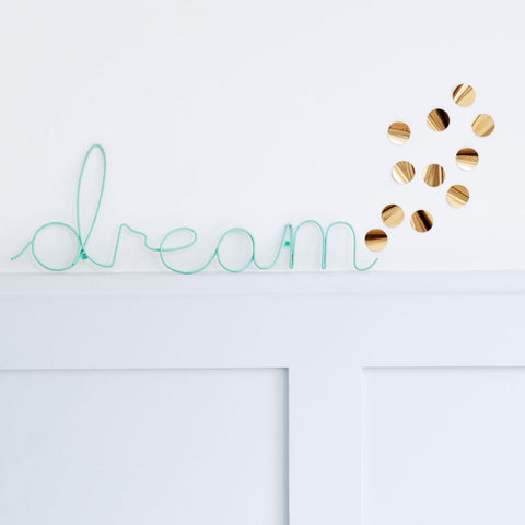 Mint Dream Wire Words