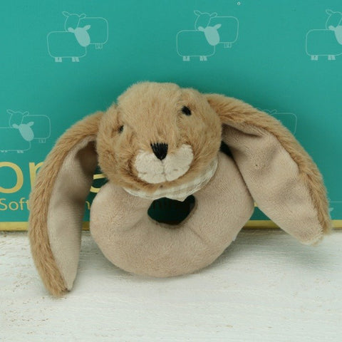 Brown Bunny Baby Rattle