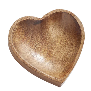 Natural Wooden Heart Dish
