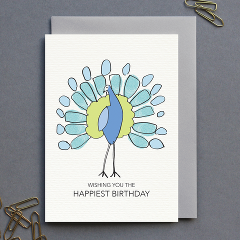Peacock Birthday Card