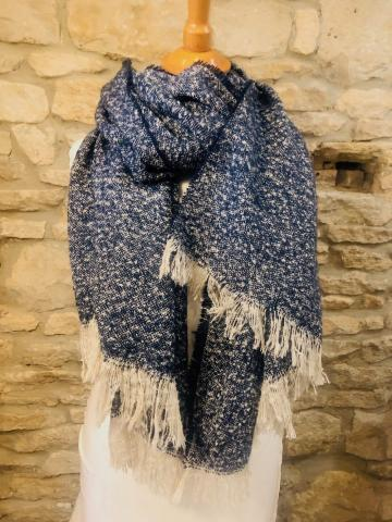 Wooly Blue Sequin Scarf