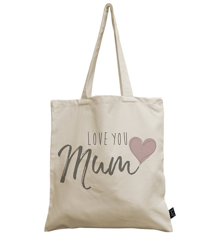 Love you Mum Cotton Canvas Bag
