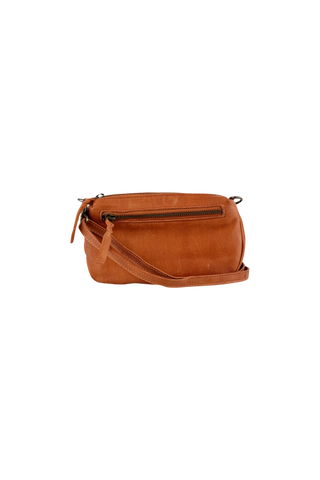 Rust Leather Cross Body Bag