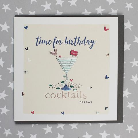 Time for Birthday Cocktails Card
