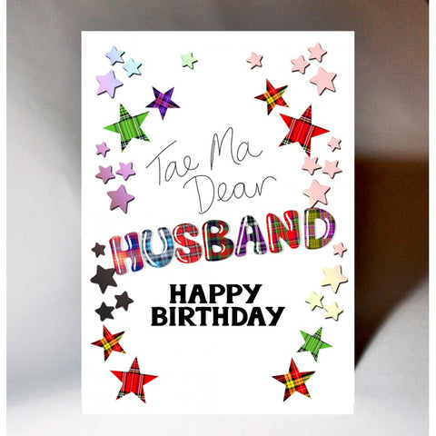 Tartan Husband Birthday Card