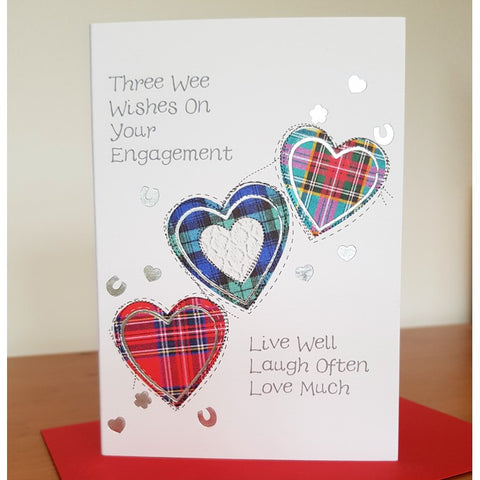Tartan Engagement Card