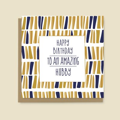 Hubby Birthday Card
