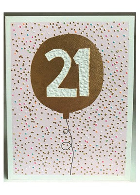 Pink 21 Card
