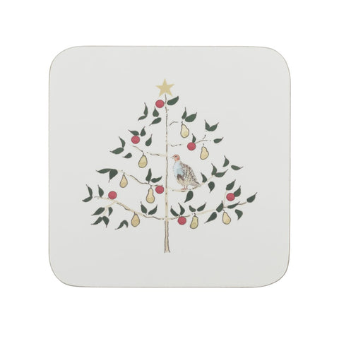 Sophie Allport Partridge Set of 4 Coasters