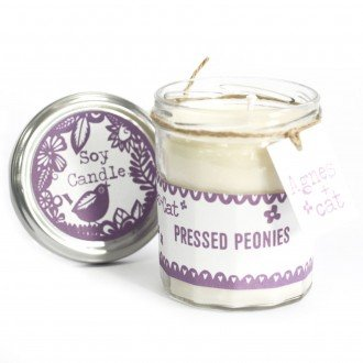 Jam Jar Candle, Pressed Peonies