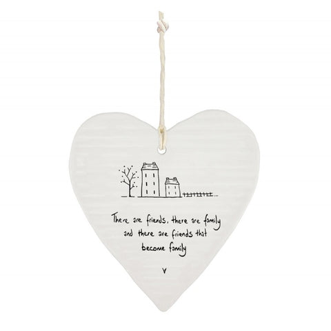 Friends and Family Porcelain Heart
