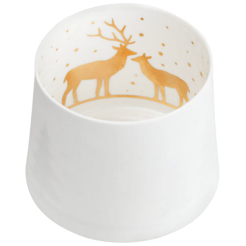 Reindeer Shadow Play Votive Candle Holder