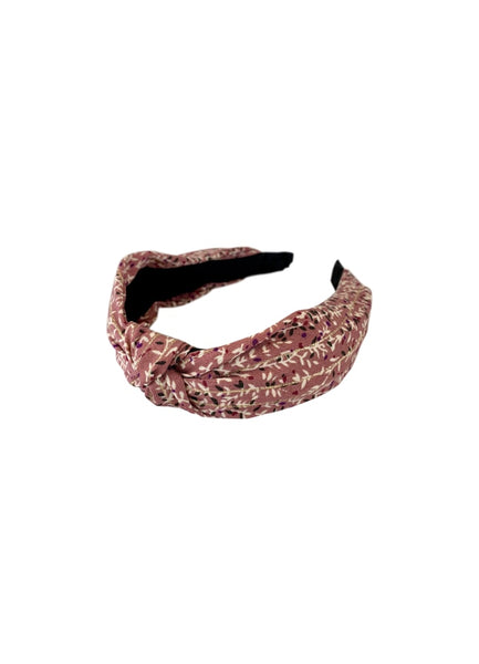 Sadie Gold Stripe Pink  Headband