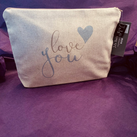 """Love You"" Make Up Bag"