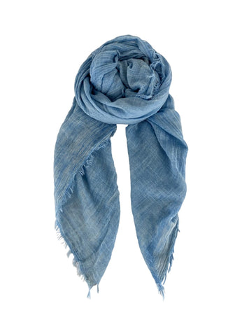 Sky Blue Plain Scarf