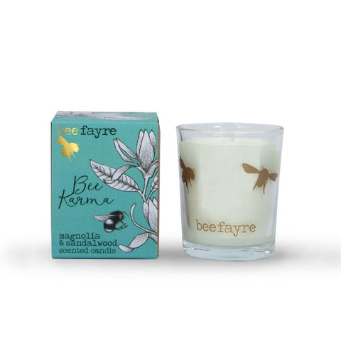 Bee Karma Magnolia and Sandalwood Votive Candle