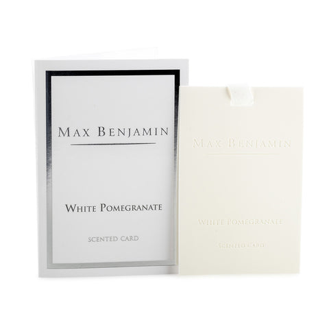White Pomegranate Scented Card