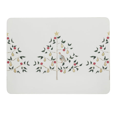 Sophie Allport Partridge set of 4 Placemats