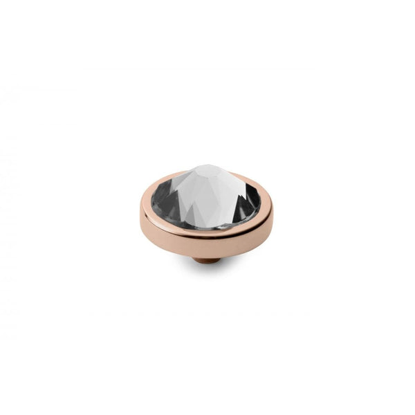 Qudo 9mm Rose Gold Canino Top Crystal