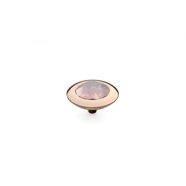 Qudo 13mm Rose Gold Tondo Top Rose Water Opal